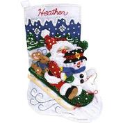 Christmas Fun Stocking Felt Applique Kit-41cm - 1.3cm Long
