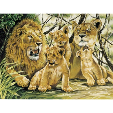 Reeves Large Painting By Numbers Tiger and Cubs