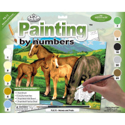 "Junior Large Paint By Number Kit 39cm X 11-1/4""-Horse & Foals"