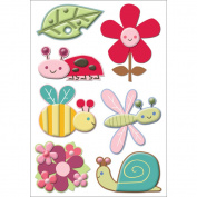 Wonderland Layered Puffy Stickers-