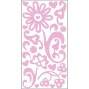"Sugar Rush Varnish Transparent Stickers 5.75""X12.25"" Sheet-Pink"