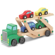 Melissa & Doug LCI4096 7.0 W x 14.0L x 3.5 H Semi Truck Car Carrier
