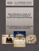 State of Maryland V. Soper U.S. Supreme Court Transcript of Record with Supporting Pleadings