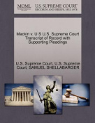 Mackin V. U S U.S. Supreme Court Transcript of Record with Supporting Pleadings