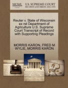 Reuter V. State of Wisconsin Ex Rel Department of Agriculture U.S. Supreme Court Transcript of Record with Supporting Pleadings