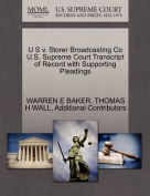 U S V. Storer Broadcasting Co U.S. Supreme Court Transcript of Record with Supporting Pleadings