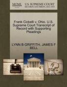 Frank Cickelli V. Ohio. U.S. Supreme Court Transcript of Record with Supporting Pleadings