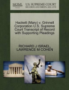 Hackett (Mary) V. Grinnell Corporation U.S. Supreme Court Transcript of Record with Supporting Pleadings
