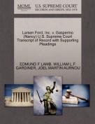 Larsen Ford, Inc. V. Gasperino (Nancy) U.S. Supreme Court Transcript of Record with Supporting Pleadings