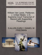 William Van Lewis, Petitioner, V. United States. U.S. Supreme Court Transcript of Record with Supporting Pleadings