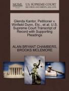 Glenda Kantor, Petitioner V. Winfield Dunn, Etc., et al. U.S. Supreme Court Transcript of Record with Supporting Pleadings