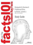 Studyguide for Business & Professional Ethics by Brooks, Leonard J., ISBN 9780538478380