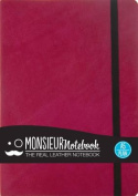 Monsieur Notebook Leather Journal - Pink Plain Medium