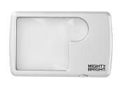 Mighty Bright Silver LED Wallet Magnifier
