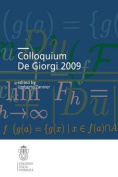Colloquium De Giorgi (Publications of the Scuola Normale Superiore / Colloquia