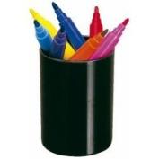 Pencil Cup, Round, Black