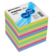 OfficeMax Memo Cube Refill, Full Size, Pastel