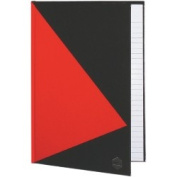 Marbig Hard Cover Notebook, A5, Ruled, Red & Black