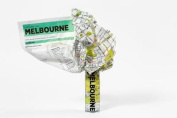 Melbourne Crumpled City Map