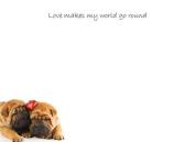Small Tear-Off Sticky Notepads - Love Makes My World
