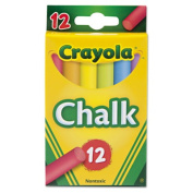 Chalk, Assorted Colours, 12 Sticks/Box