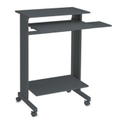 Buddy Stand-Up Steel-Top Workstation, 110cm .H x 70cm .W x 50cm .D, Charcoal Grey