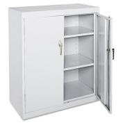 Value Line Steel Storage Cabinet, 2 Adjustable Shelves, 36w x 18d x 42h, Gray