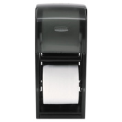Coreless Double Roll Tissue Dispenser, 7 1/10 x 10 1/10 x 6 2/5, Stainless Steel