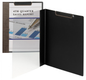 Accent Series Poly Report Cover, Binding Clip, Letter, Latte, 5/Pack
