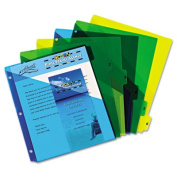 Preprinted Six-Tab Double Pocket Dividers, 11x8-1/2, 1-6, Assorted