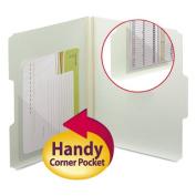 Self-Adhesive Poly Corner Pockets, Clear, 4x4, 100/Box