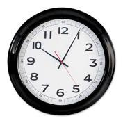 "Round Wall Clock, 18"", Black"