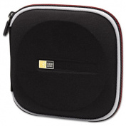 CD Wallet, Molded EVA, 24-Disk, Black