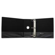 """Comfort Grip Deluxe Plus D-Ring View Binder, 5"""" Capacity, 8-1/2 x 11, Black"""