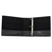 """Comfort Grip Deluxe Plus D-Ring View Binder, 4"""" Capacity, 8-1/2 x 11, Black"""