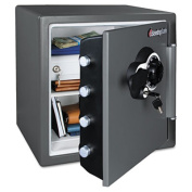 Combination Water/Fire Resistant Safe, 1.23 ft3, 16-3/8 x 19-3/8 x 17-7/8, Gray