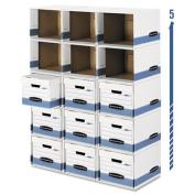 File/Cube Box Shell, Legal/Letter, White/Blue