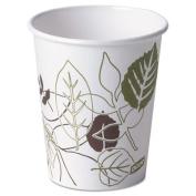 Dixie 2340PATH Pathways Paper Hot Cups 10 oz 1000-Carton