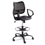 Vue Series Mesh Extended Height Chair, Vinyl Seat, Black
