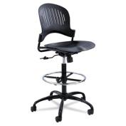 Zippi Plastic Extended-Height Chair, Black