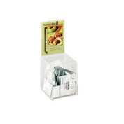 Collection Box with Graphics Display, 5 1/2 x 5 1/2 x 13, Clear
