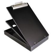 "Cruiser Mate Aluminum Storage Clipboard, 1"" Capacity, Holds 8 1/2 x 12, Black"