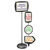 "Floor Stand Sign Holder, Rectangle, 15x11 sign, 66""H, Black Frame"