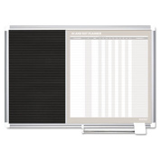 Mastervision GA0287830 MasterVision In-Out and Notice Board 24x18 Silver Frame