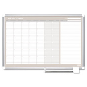 Mastervision GA0594830 MasterVision Perpetual Year Planner 48x36 White-Silver