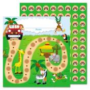 Jungle Safari Mini Incentive Chart, 5 1/4w x 6h