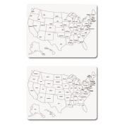 Two-Sided U.S. Map Whiteboard, 24 x 18