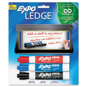 Mountable Whiteboard Ledge with 3 Markers, Set