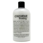 Coconut Frosting - Ultra Rich Shampoo, Shower Gel & Bubble Bath, 473.1ml/16oz