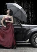 Felt Journal - Lady with Car